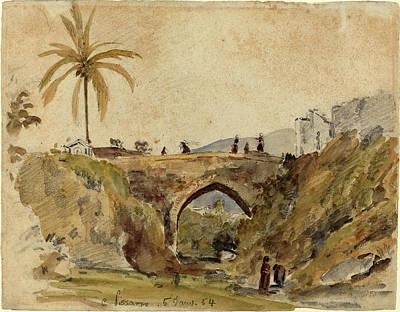 Camille Pissarro French, 1830 - 1903, Bridge At Caracas Art Print by Quint Lox