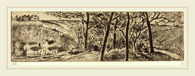 Camille Pissarro French, 1830-1903, Horizontal Landscape Art Print by Litz Collection