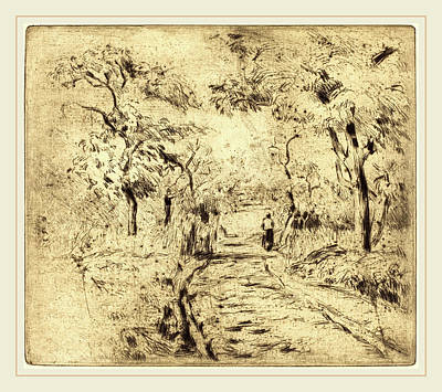 Camille Pissarro French, 1830-1903, In The Fields At Ennery Art Print by Litz Collection