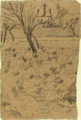 Camille Pissarro French, 1830 - 1903, Le Champ De Choux Art Print by Quint Lox