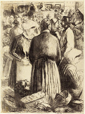 Camille Pissarro French, 1830 - 1903, Market At Pontoise Art Print by Quint Lox