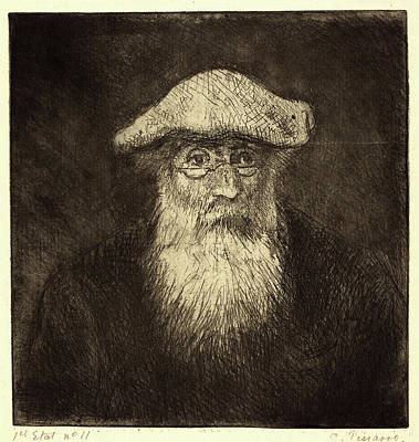 Self-portrait Drawing - Camille Pissarro, French 1830-1903, Self-portrait Camille by Litz Collection