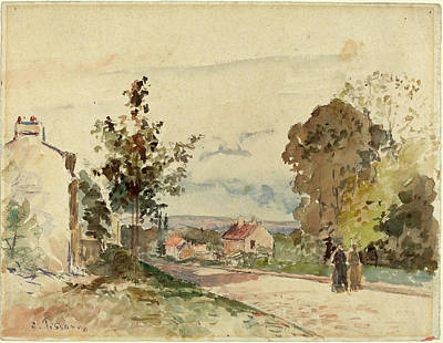 Camille Pissarro French, 1830 - 1903, The Road Art Print by Quint Lox