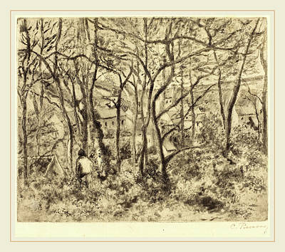 Camille Pissarro French, 1830-1903, Wooded Landscape Art Print by Litz Collection