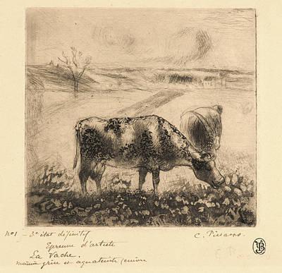 Camille Pissarro French, 1831 - 1903. The Cow La Vache Print by Litz Collection