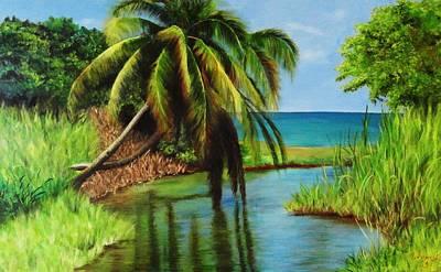 Puerto Rico Painting - Camino Del Agua by Migdalia Bahamundi