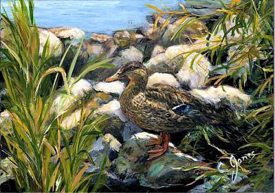 Wall Art - Painting - Camo Duck I by C Keith Jones