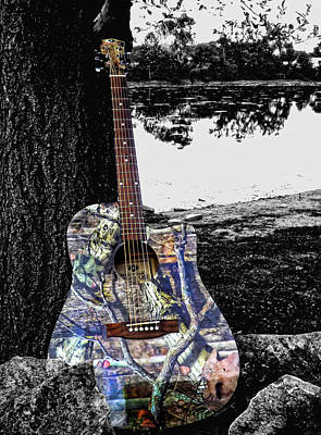 Photograph - Camo Guitar by Kristie  Bonnewell