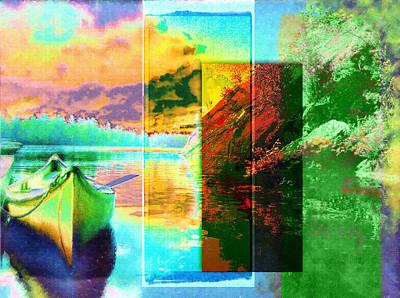 Manipulation Photograph - Camoe On The Lake by Mario Carini