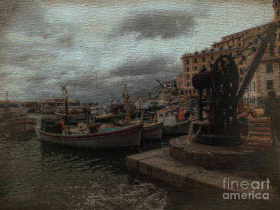 Photograph - Camogli Fishing Boats by Karen Lewis