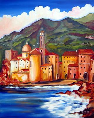 Camogli In Liguria Art Print by Roberto Gagliardi