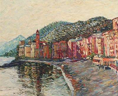 Portofino Italy Painting - Camogli by Rob White