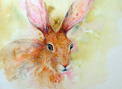 Camouflage Brown Hare Art Print