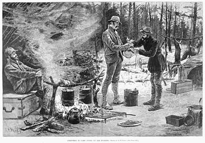 Camp Christmas, 1885 Art Print