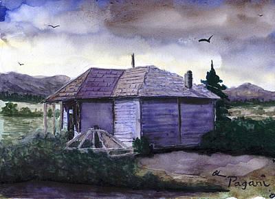 Camp Creek School Watercolor Art Print