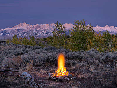 Photograph - Camp Fire Warmth by Leland D Howard