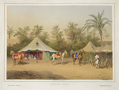 Aristocrat Photograph - Camp In Egypt by British Library