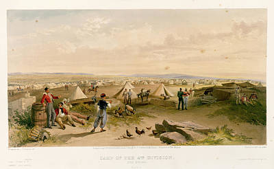 Camp Of The 4th Division Art Print by British Library