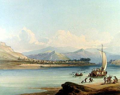 Indian River Digital Art - Camp Of The Gros Ventres Of The Prairies by Karl Bodmer