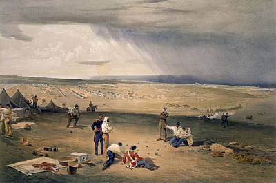 Playing Drawing - Camp Of The Third Division, Plate by William 'Crimea' Simpson