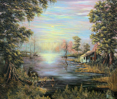Camp On The Bayou Art Print