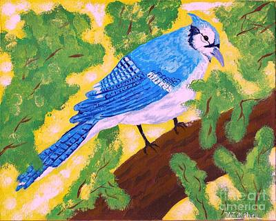 Bluejay Painting - Camp Robber by Vicki Maheu