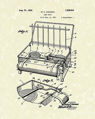 Camp Stove 1926 Patent Art Art Print