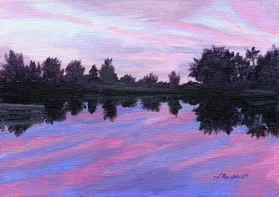Painting - Camp Sunset by Lynne Reichhart