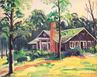 Painting - Camp Sutton Lodge 1937 by Art By Tolpo Collection