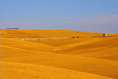 Tarquinia Landscape Campaign With Aqueduct And House Art Print