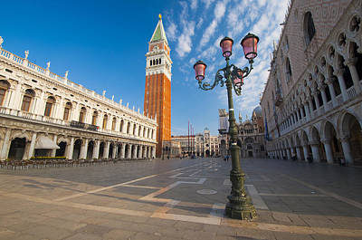 Campanile Of St Mark's Church And St Mark's Square In Venice Original