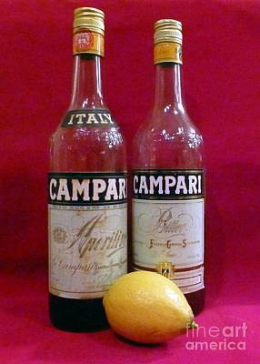 Photograph - Campari With Lemon Still Life by Barbie Corbett-Newmin