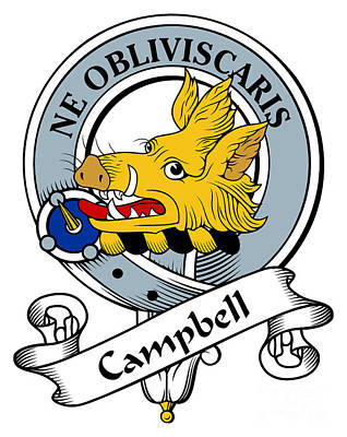 Campbell Clan Badge Print by Heraldry