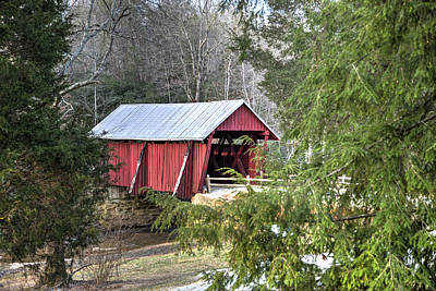 Photograph - Campbell's Covered Bridge-1 by Charles Hite
