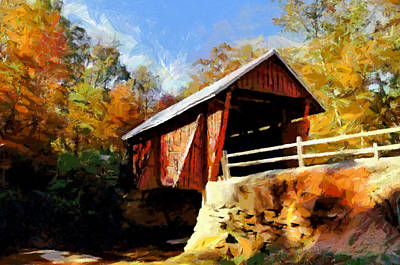 Campbell's Covered Bridge Art Print by Lynne Jenkins