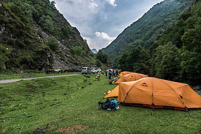 Tbilisi Photograph - Camped Outside Of Shatili by Rick Saez