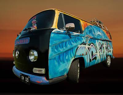 Camper Van Paint Job Art Print by Pete Hemington