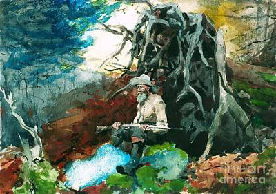 Painting - Campfire Adirondacks by Roberto Prusso