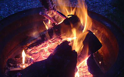 Photograph - Campfire Apparition by Seth Shotwell