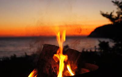 Photograph - Campfire At Sunset by Angi Parks
