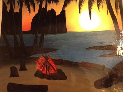 Art Print featuring the painting Campfire by Michael Rucker