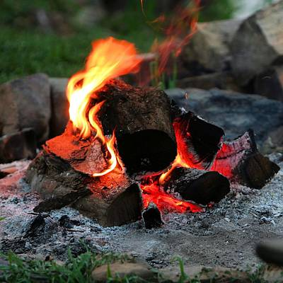 Photograph - Campfire - Square by Gordon Elwell