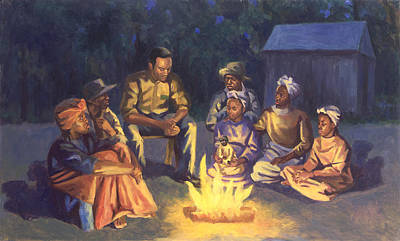 Black Art Painting - Campfire Stories by Colin Bootman
