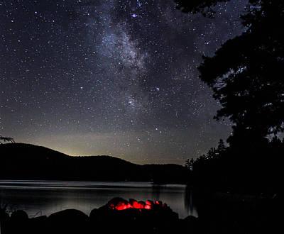 Campfire Under The Stars Art Print