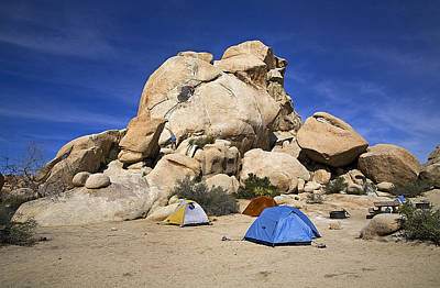 National Parks Photograph - Campground Joshua Tree National Park by Buddy Mays
