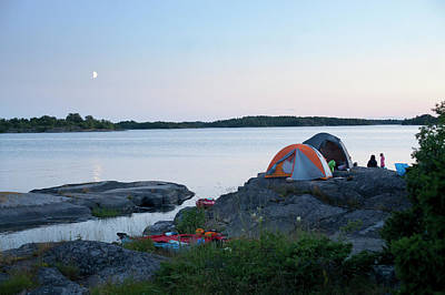 Togetherness Photograph - Camping At Coast At Evening by Johner Images