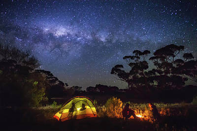 Photograph - Camping At Gawler Ranges, South by Robert Lang Photography