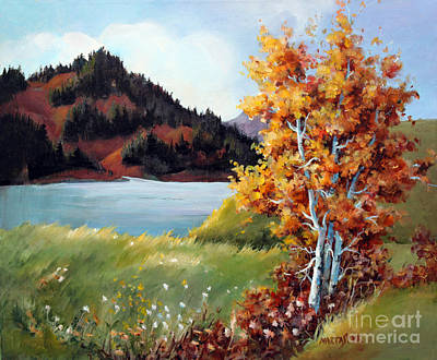 Painting - Camping At Okanagan Lake by Marta Styk