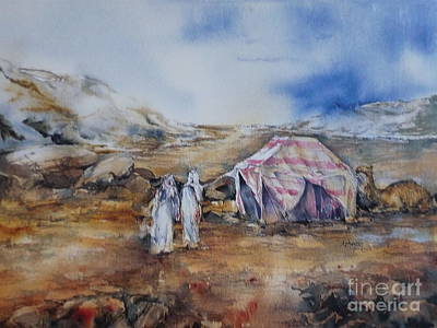 Painting - Camping by Donna Acheson-Juillet