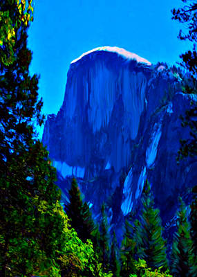 Painting - Camping Half Dome Yosemite National Park by Bob and Nadine Johnston